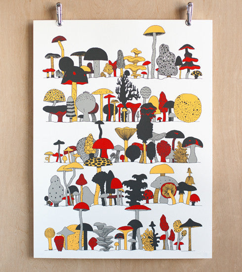 Fungus-Among-Us Makelike Mushroom Poster - Old New House
