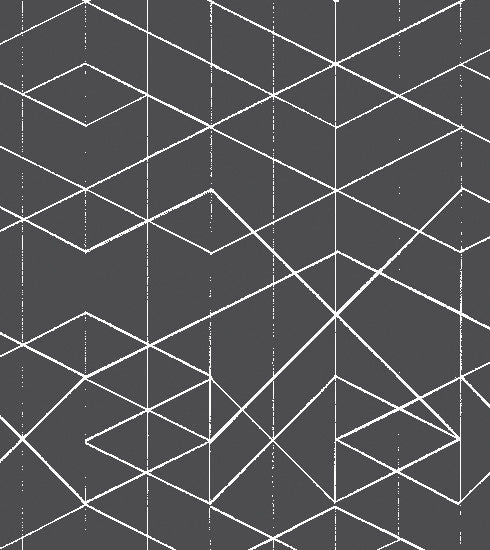 Geometric Wallpaper White on Dark Grey
