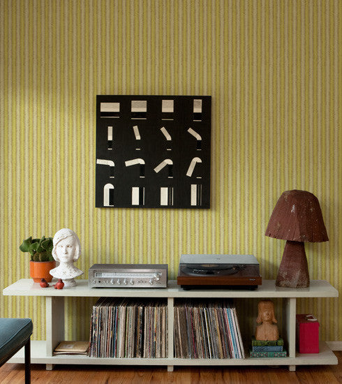 Yellow Fishbone Retro Wallpaper - Old New House