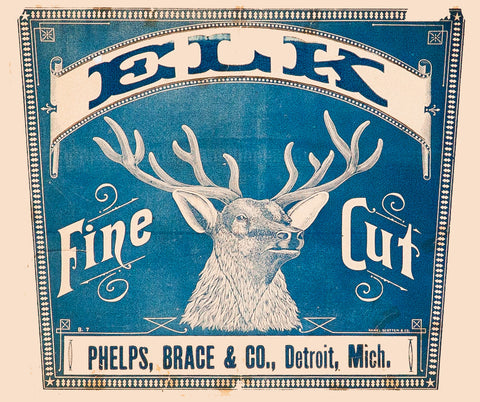 Elk Fine Cut Cigar Advertisement Revival on Wood - Old New House