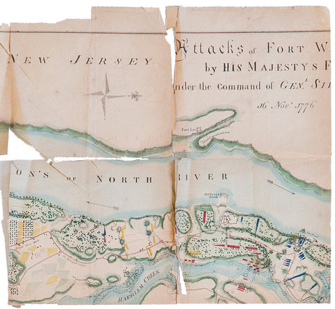 18th Century Antique Map of NJ Revival with Oak Frame - Old New House