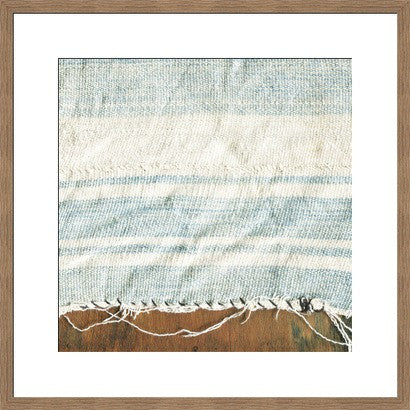 Indigo Stripes and Wood Original Photograph - Old New House