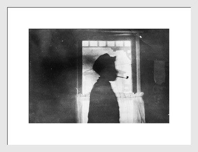 Antique Experimental Photograph Revival, Boy with Pipe - Old New House