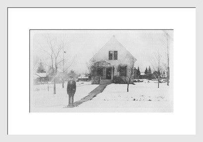 Antique Experimental Photograph Revival, Surreal - Old New House