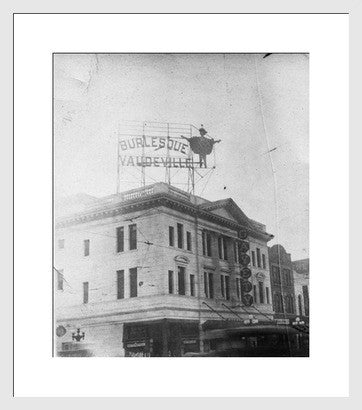Antique Experimental Photograph Revival, Burlesque Sign - Old New House