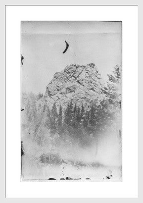 Antique Experimental Photograph Revival, Big Rock - Old New House