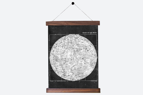 Antique Moon Chart Pull Down Revival in Black and White - Old New House