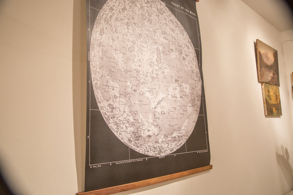 Antique Moon Chart Pull Down Revival in Black and White