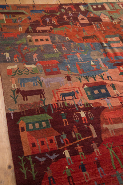 6x9 New Tibetan Folk Art Carpet - Old New House