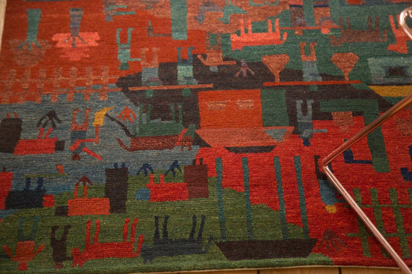 New Tibetan Folk Art Rug