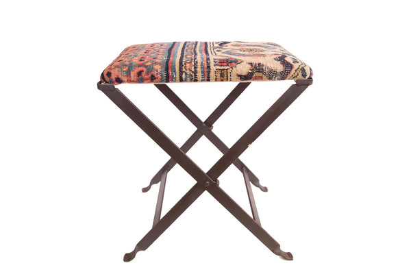 Rug Fragment Footstool - Old New House