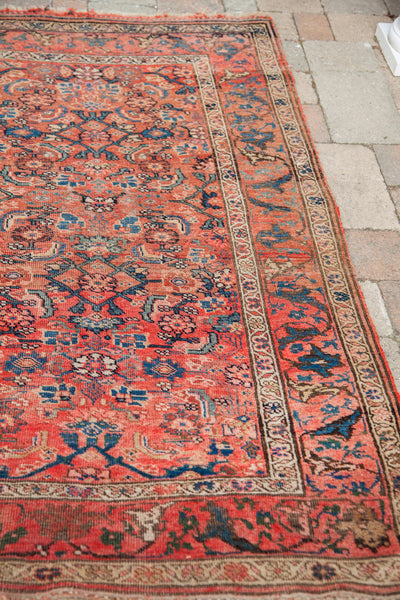 4x6 Shabby Tribal Antique Persian Rug - Old New House