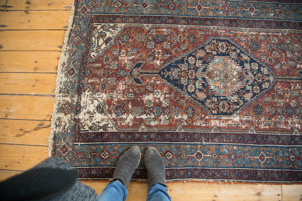 Antique Distressed Bibikabad Rug
