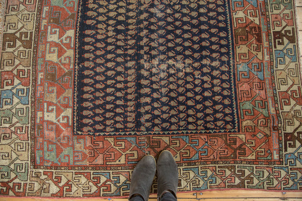 4.5x5 Antique Hamadan Square Rug - Old New House