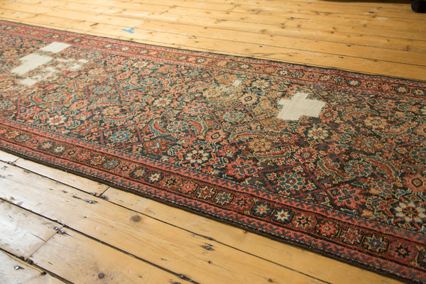 Distressed Antique Fereghan Rug Runner