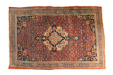 Antique Fine Halvaie Bijar Carpet