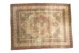 Distressed Antique Kerman Carpet