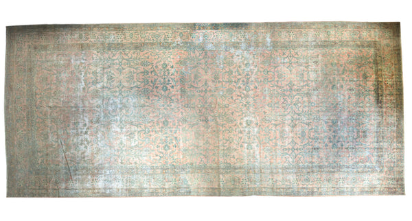 9.5x22.5 Antique Kerman Rug Runner