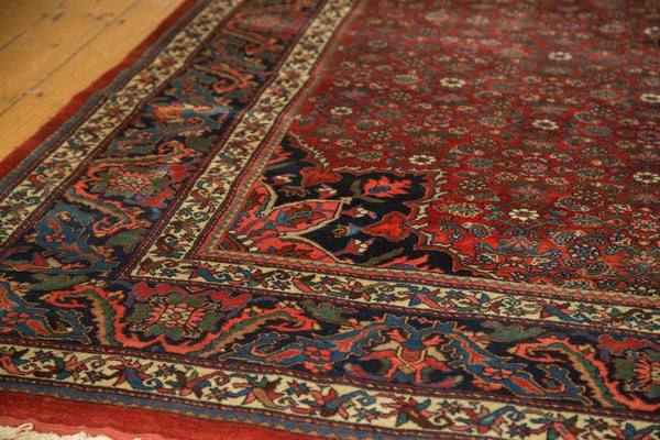 Vintage Fragmented Bijar Square Carpet