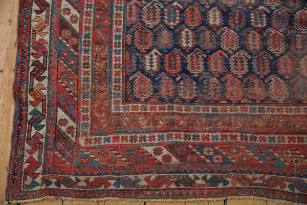 Antique Afshar Square Carpet / Item sm001316 image 7
