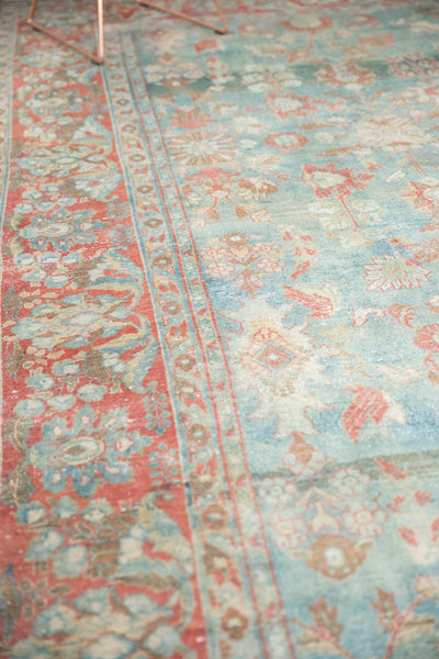 Vintage Distressed Mahal Carpet / Item sm001323 image 12