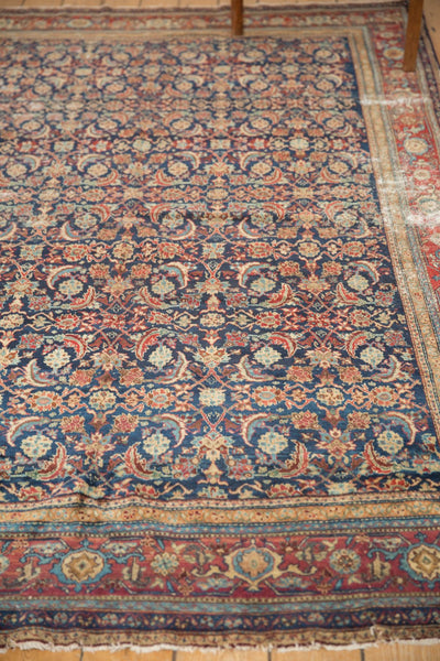 Antique Distressed Fine Malayer Carpet