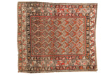 Antique Hamadan Square Rug