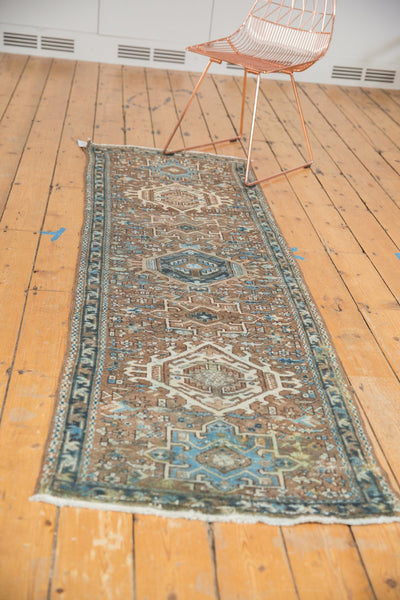 Vintage Distressed Karaja Rug Runner