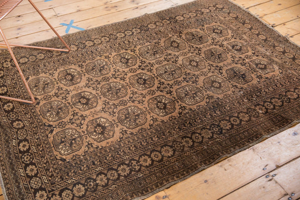 Vintage Distressed Afghan Rug