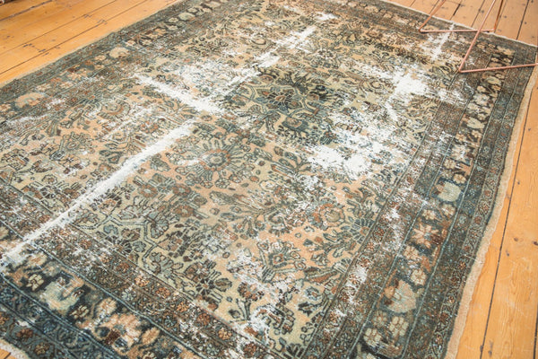 Vintage Distressed Hamadan Carpet