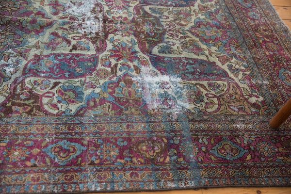 Vintage Distressed Baktiari Carpet