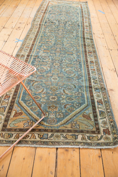 Vintage Distressed Hamadan Rug Runner / Item sm001347 image 5