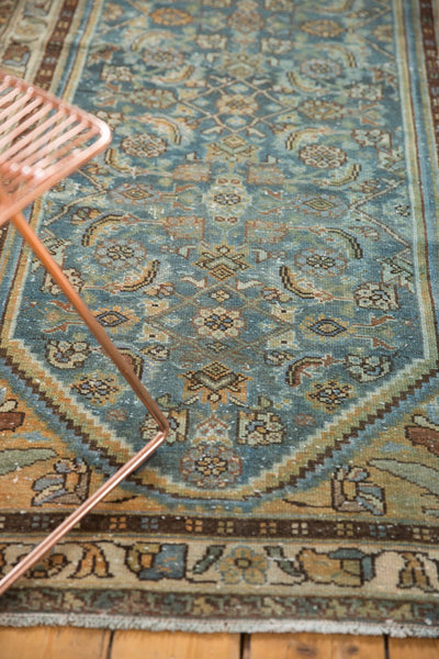 Vintage Distressed Hamadan Rug Runner / Item sm001347 image 6