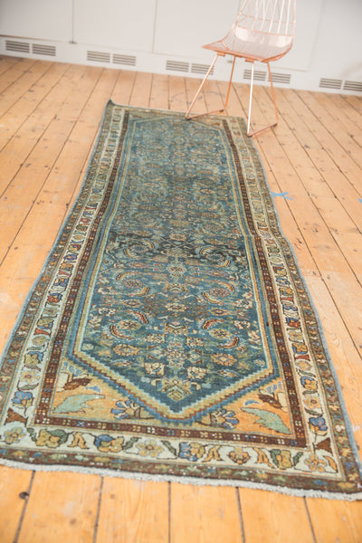 Vintage Distressed Hamadan Rug Runner / Item sm001347 image 8
