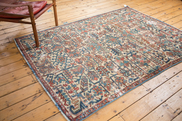 Vintage Distressed Heriz Fragment Carpet / Item sm001348 image 3