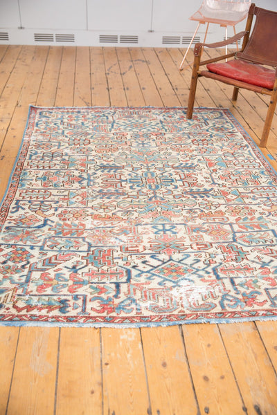 Vintage Distressed Heriz Fragment Carpet / Item sm001348 image 4