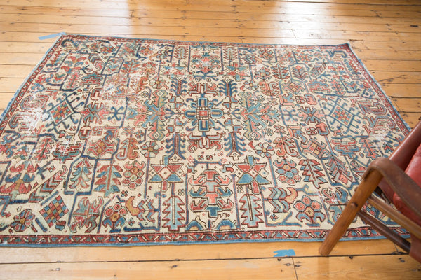 Vintage Distressed Heriz Fragment Carpet / Item sm001348 image 7