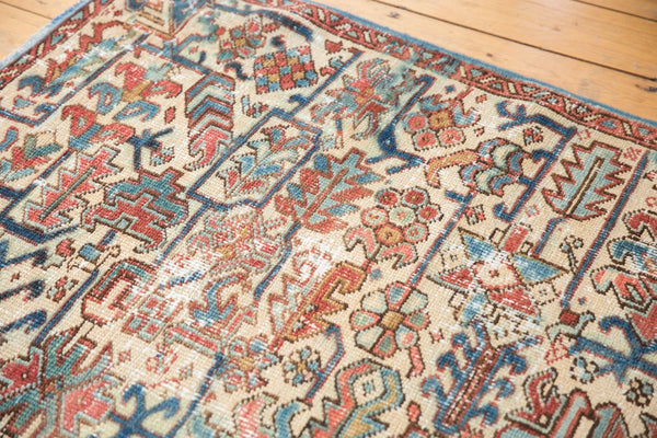 Vintage Distressed Heriz Fragment Carpet / Item sm001348 image 9
