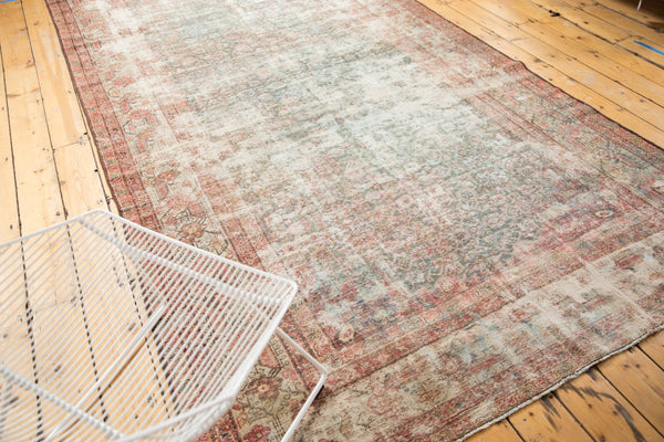 Vintage Distressed Mahal Rug Runner / Item sm001363 image 3