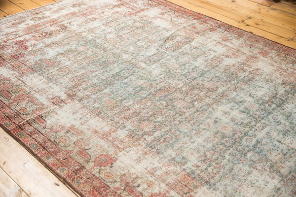Vintage Distressed Mahal Rug Runner / Item sm001363 image 6