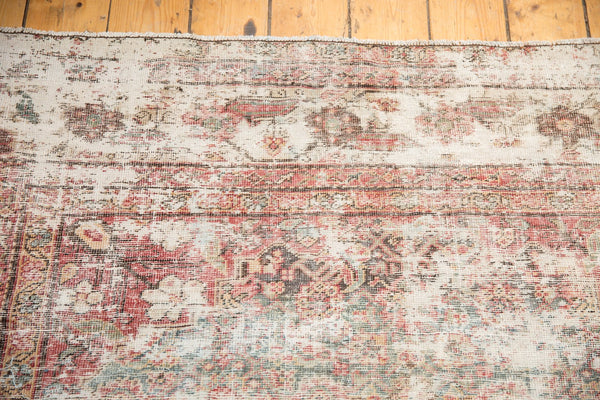 Vintage Distressed Mahal Rug Runner / Item sm001363 image 8