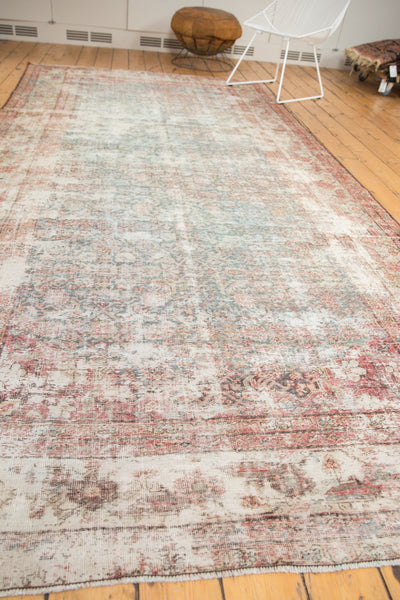 Vintage Distressed Mahal Rug Runner / Item sm001363 image 10
