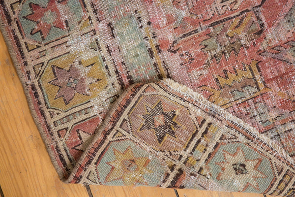 Antique Distressed Caucasian Soumac Rug