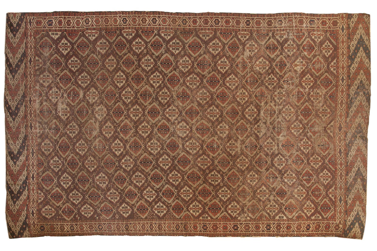 8.5x14 Antique Beshir Carpet // ONH Item sm001372