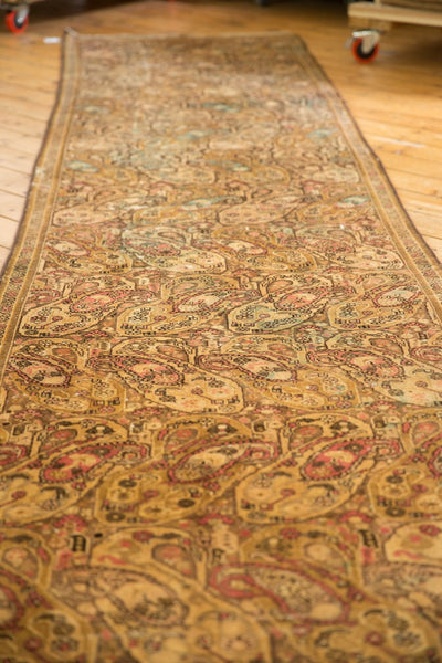 Vintage Distressed Malayer Rug Runner / Item sm001403 image 6