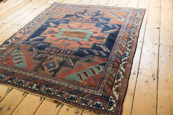 Antique Afshar Square Rug / Item sm001420 image 3