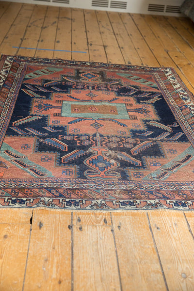 Antique Afshar Square Rug / Item sm001420 image 6