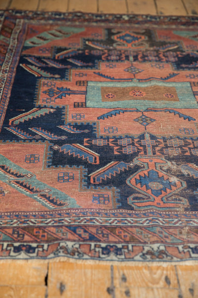 Antique Afshar Square Rug / Item sm001420 image 7