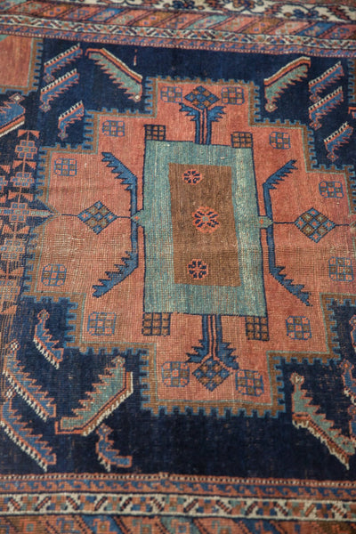 Antique Afshar Square Rug / Item sm001420 image 10