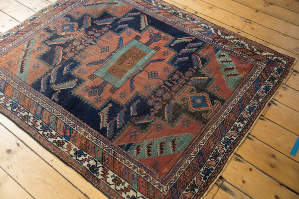 Antique Afshar Square Rug / Item sm001420 image 11